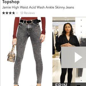 Size 28 TopShop High Waist Acid Wash Jean